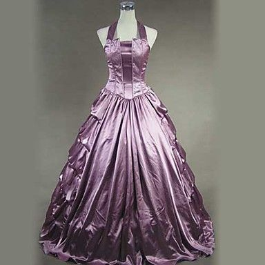 Sleeveless Floor-length Purple Satin Princess Lolita Dress – USD $ 114.99
