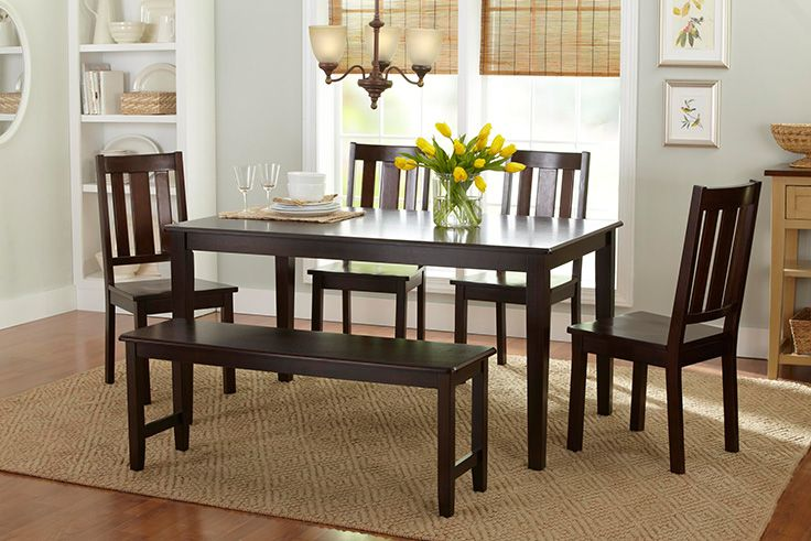 Better Homes And Gardens Bankston 5 Piece Dining Set In Mocha Sweepin 39 It Up Pinterest