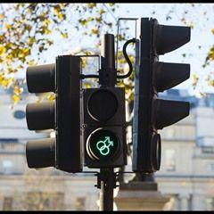 LGBT Pedestrian traffic light symbols in use in London