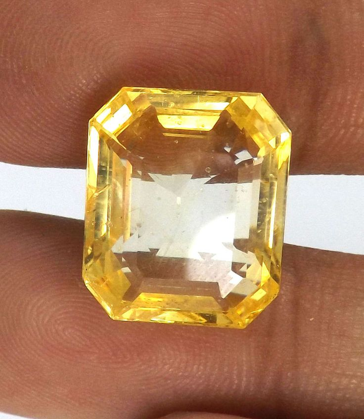 15.53 Cts 100% Natural Unheated Ceylon Golden Yellow Sapphire Huge Size 15 mm #Unbranded