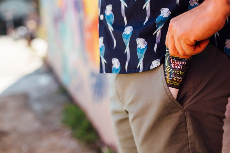 Cloudy or sunny, our Tattoo Goo Renew with SPF30+ keeps your ink protected and color-full.