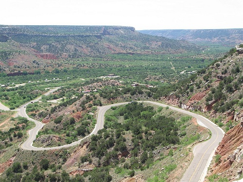 Palo Duro Canyon View Of Winding Road Palo Duro Canyon Beautiful Places To Travel Palo Duro