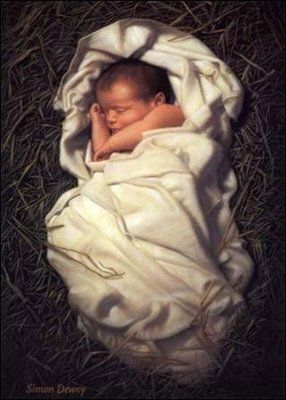 ....and you will find the babe, wrapped in swaddling clothes and lying in a manger.......