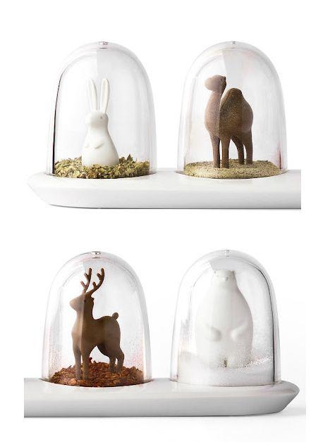 Qualy - Snow-Globe-Like Spice Jars   http://www.newarriva.com/qualy/main.html