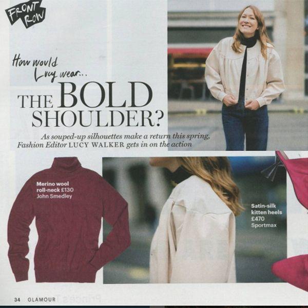 John Smedley #Merino roll neck featured in Glamour Magazine