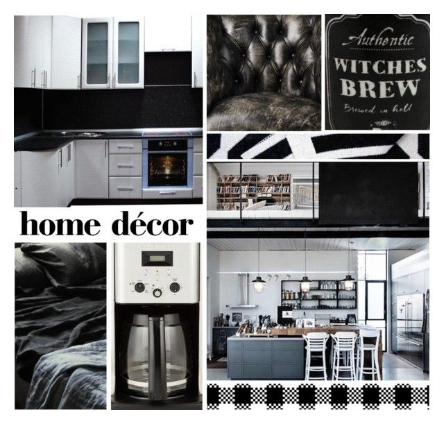 """Black is Back!"" by leegal57 ❤ liked on Polyvore featuring interior, interiors, interior design, home, home decor, interior decorating, Savannah Hayes and Cuisinart"