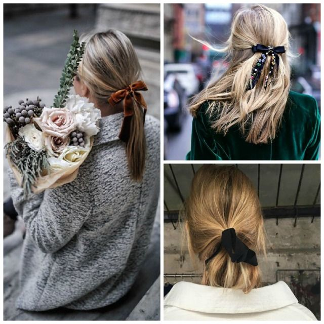 """cool Party hair details , Shiny, sparkly chic hair accessories for the Holiday """"easy"""" to do hairstyles.  One of my favorites is adding a velvet ribbon to a low ponytail... Ho... ,  #easyhairstyles #easytodohair #eleganthairstyles"""