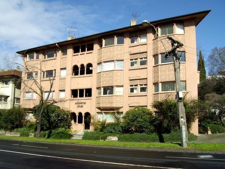 Art Deco/Spanish Mission, Interwar apartments, South Yarra, Melbourne Australia