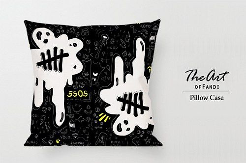 """DESCRIPTION ----------- This standard pillowcase is roomy in size  (18"""" x 18"""") has been designed to add sophistication and style to your bedroom. The custom pillowcase is without buttons, and has an o"""
