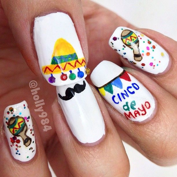 26 best NAILS-Cinco de Mayo images on Pinterest | Holiday nails ...