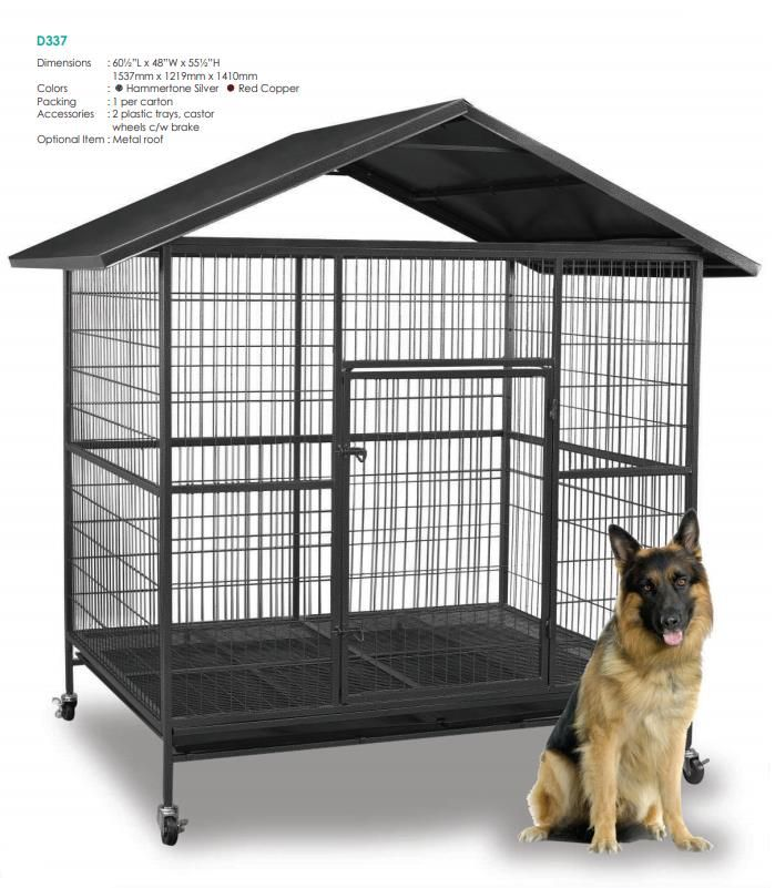 Steel Dog Cage D337r With Metal Roof End 7 3 2019 4 15 Pm Dog