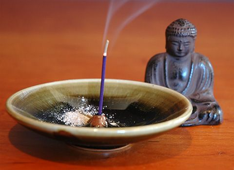 burning incense is good for two things: the nose and the soul. Yep