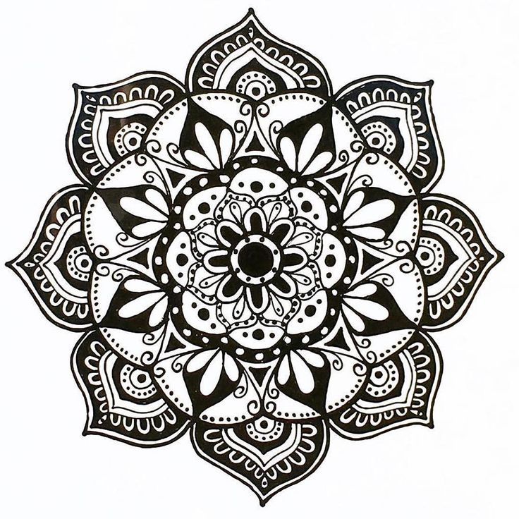 This original hand drawn monochromatic beauty is available instore or online at @__relove__   .  #monochromatic #blackandwhite #contrast #handdrawn #original #art #doodles #repost @beachmandalas