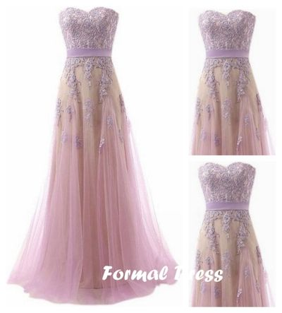 2016 New Design Sweetheart A-line Tulle Lace Long Prom Dress,Formal Dresses