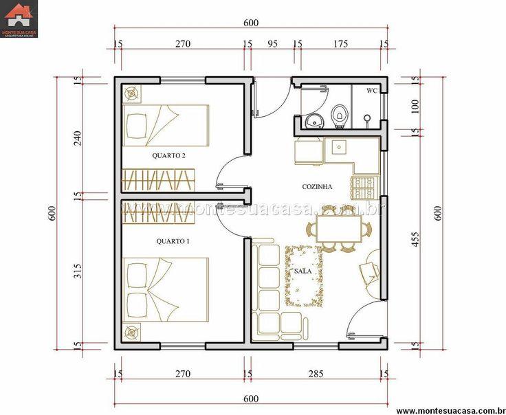 Casa 2 Quartos - 36m²