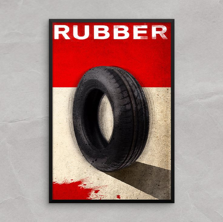 Rubber Movie, Tire Poster or Framed Print