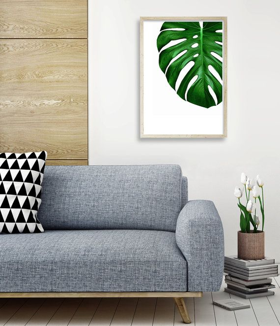 Monstera Deliciosa Print | Monstera Print | Tropical Decor | Monstera Wall Art | Tropical Interior | Monstera Leaf Print Poster | Monstera Leaf Art Print | Tropical Wall Art | Tropical Printable Art | Monstera Plant Art. By Little Ink Empire on Etsy