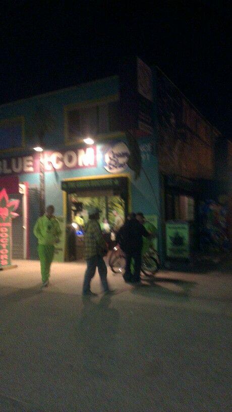 Sløret billede, men måske også sløret effekt efter besøg hos 'den grønne doktor' på Venice Beach.
