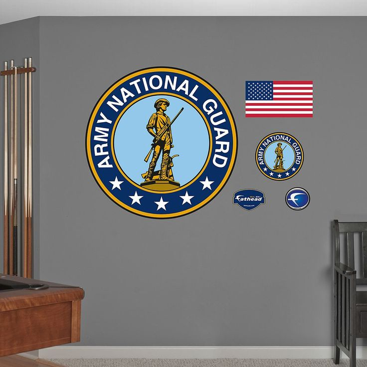 Fathead Army National Guard Wall Decals, Multicolor