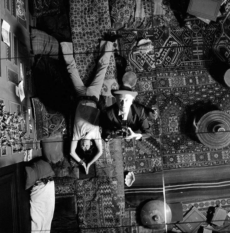 Mick Jagger and Cecil Beaton by Cecil Beaton