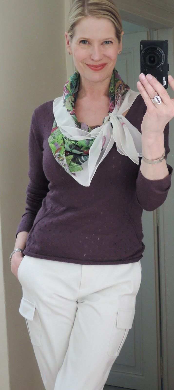 Silk Square Scarf - heart on my sleeve by VIDA VIDA ZINxIDOzs