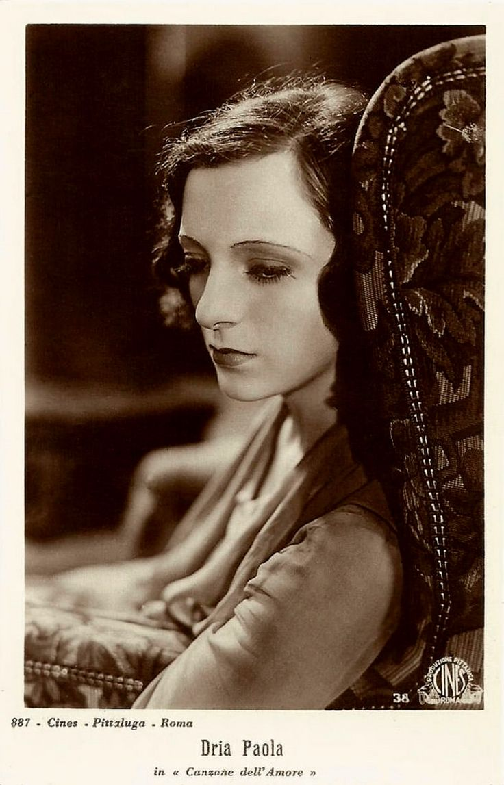 """In 1930, Cesare Andrea Bixio composed the title song and the music for Gennaro Righelli's drama """"La canzone dell'amore"""" (Italian title: """"The song of love""""), the first Italian talking movie, starring Dria Paola (in the picture) and Elio Steiner."""