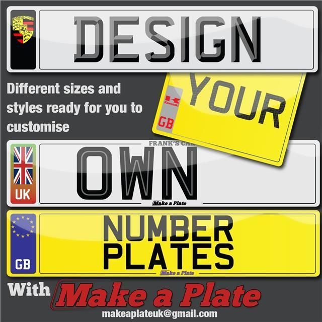 QUALITY CUSTOM CAR NUMBER PLATES AND SHOW PLATES in Vehicle Parts & Accessories, Car Parts, Exterior & Body Parts | eBay