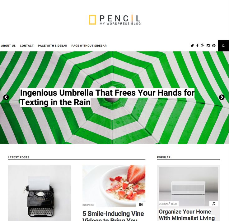 The Pencil free WordPress theme. More info: http://curatable.net/20-free-wordpress-themes-i-would-actually-use-to-start-a-new-blog-in-2016/