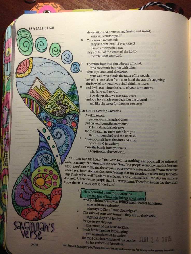 Bible journaling ideas-' how beautiful upon the mountain are the feet of him who brings good news'