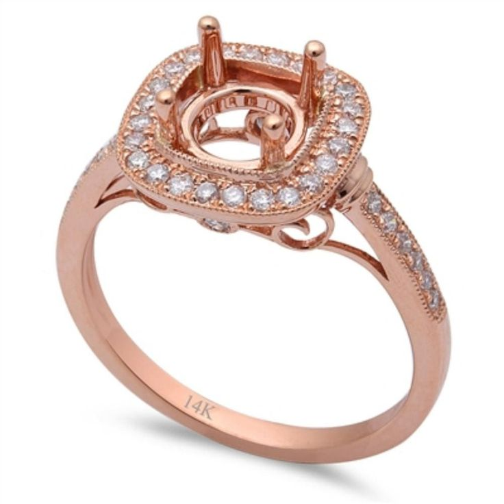 Item Specifications: Metal Type: Solid 14k Rose Gold Metal Stamp: 14K Total Carat Weight: 0.55cts 38 Round Diamonds Diamond Color: F-G Diamond Clarity: VS1-VS2