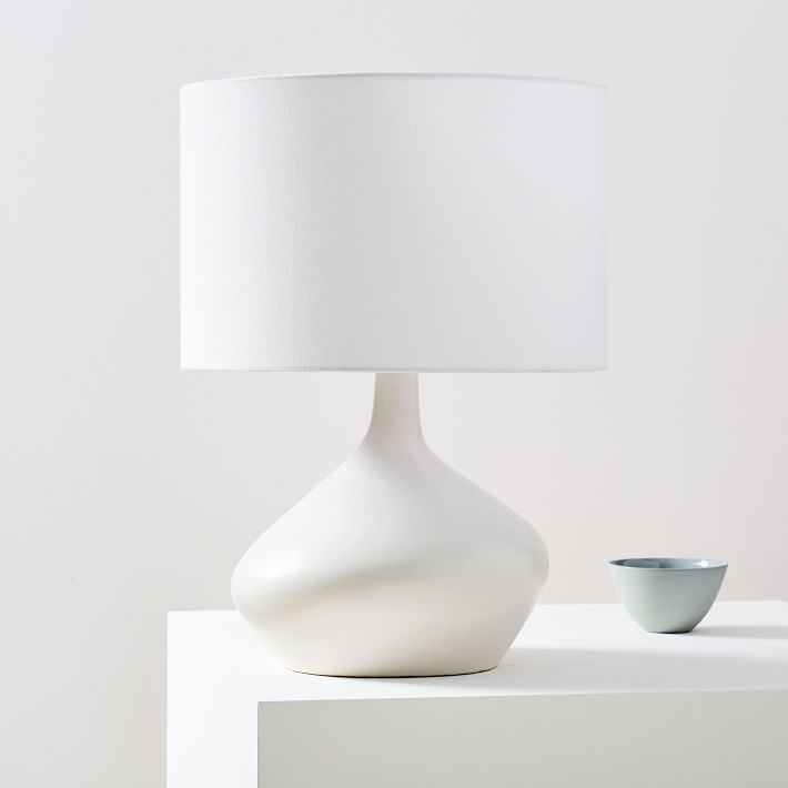 Asymmetry Ceramic Table Lamp Small White In 2019