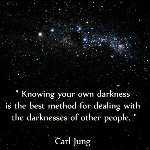Within each of us dwells both the light and the dark, it is when we come to understand this that we are able to understand others better.