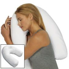 cervical roll neck support | ... Side Sleeper Bed Neck Roll Lumbar Back Head Support Comfort Pillow