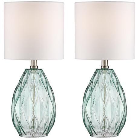 Rita Blue Glass Table Lamp Set of 2