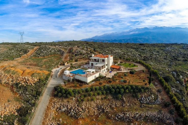 Golden Hill Villa in Malaxa Village, Chania, Crete #villa #chania #crete #greece #vacation_rental #holidays #luxurious_accommodation #privacy #visit_crete #unforgettable_holidays #live_your_myth_in_Greece #outdoors #love_the_view #air_photo