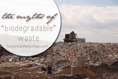 One of the biggest culprits of greenwashing is this thing called biodegradable waste. via SustainableBabySteps.com