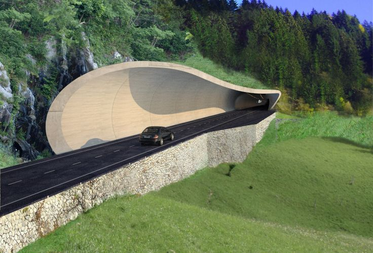 Tunnelsystem San Pancrazio, Italy Competition 2010 Total length: 2km Number of tunnel portals: 3 Client: Provincia di Bolzano Architect: DISSING+WEITLING architecture