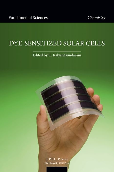 """The dye-sensitized solar cell (DSC) is a photovoltaic converter that mimics natural photosynthesis. Like green plants and algae it uses a molecular absorber, the dye, to harvest sunlight and generate electric charges. Dyesensitized solar cells are poised to replace existing technologies in """"low density"""" solar-energy applications, especially in contexts where mechanical robustness and light weight is required. // http://www.epflpress.com/livres/EPFL978-2-940222-36-0.html"""