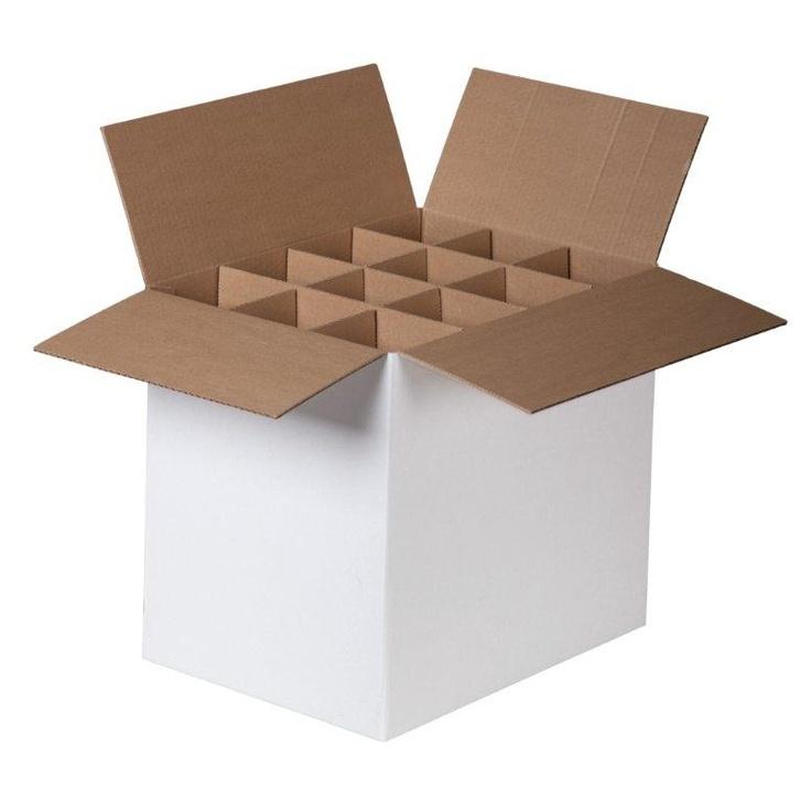 Caixa com divisão montada