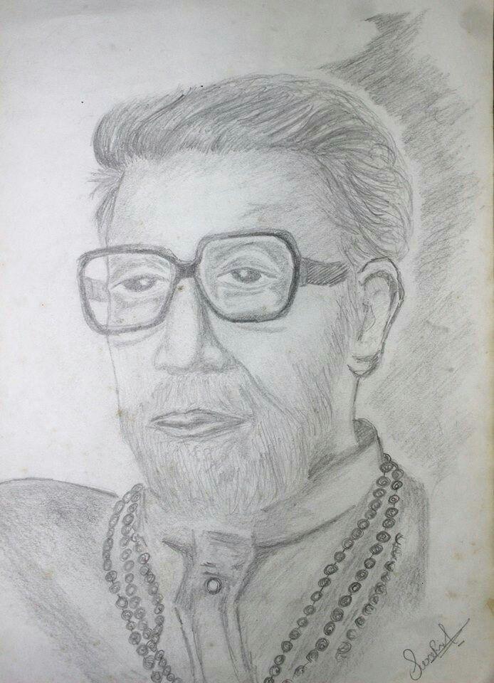 balasaheb thakare painting