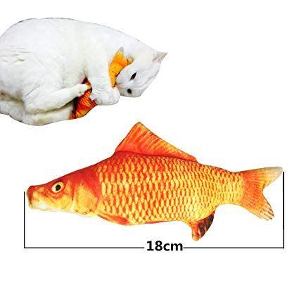 Fish Shape Pet Cat Toy Catnip Stuffed Kitten Teaser Pillow Chew Scratching