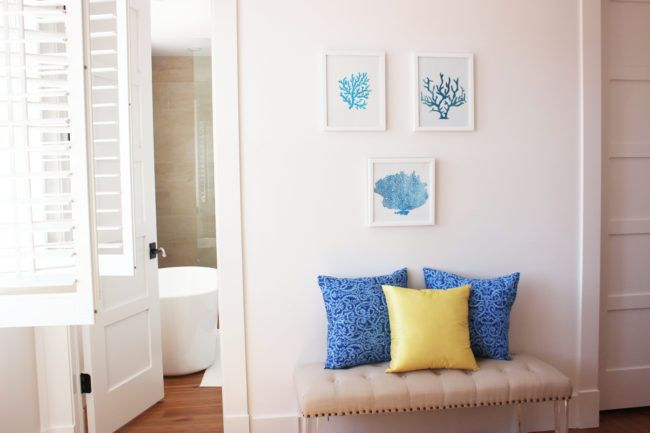 DIY - Blue Coral Stencil Wall Art | Simple Nature Decor