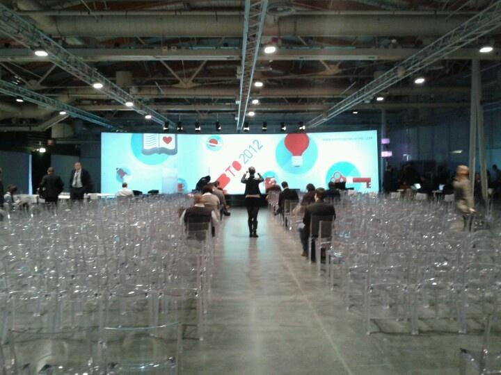 La #MAIN Hall prima dell'inizio di #BTO2012