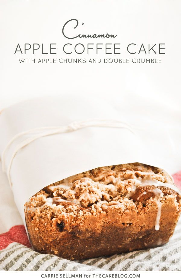 Cinnamon Apple Coffee Cake via Carrie Sellman for The Cake Blog #recipe