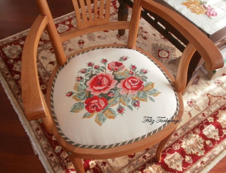 Cross Stitch and chair