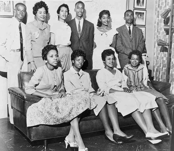 """""""The Little Rock Nine"""" --These 9 teenagers integrated the white high school in Little Rock, AR.  They were kicked, ridiculed, threatened, called every name, spat on, ignored, and had acid thrown in their faces. Pres. Eisenhower ordered federal protection, and Melba Patillo Beals in her book """"Warriors Don't Cry"""" credits their body guards of the 101st airborne as their saviors. All have lead highly successful lives. And all are heroes."""