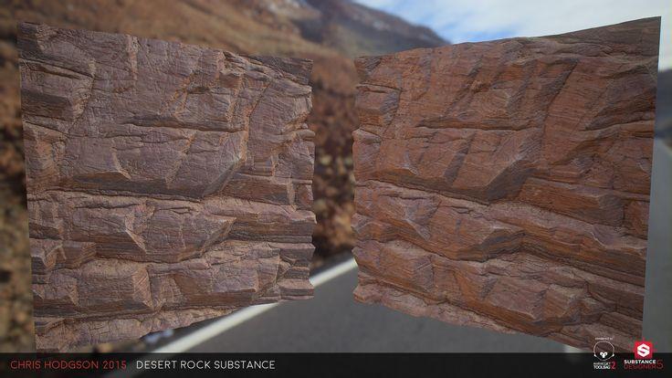ArtStation - Desert Rock / Substance Designer, Chris Hodgson