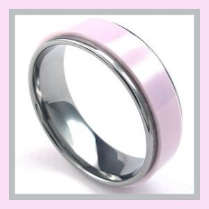 KONOV Jewelry Mens Womens Ceramic Tungsten Ring, Classic 7mm Band, Pink Silver These Womans Ceramic Wedding Rings, are made of high quality stainless steel. It will not rust, as it does not oxidize. These Womans Ceramic Wedding Rings, are made of high quality stainless steel. It will not rust, as it does not oxidize. http://theceramicchefknives.com/womans-ceramic-wedding-rings/ KONOV Jewelry Mens Womens Ceramic Tungsten Ring