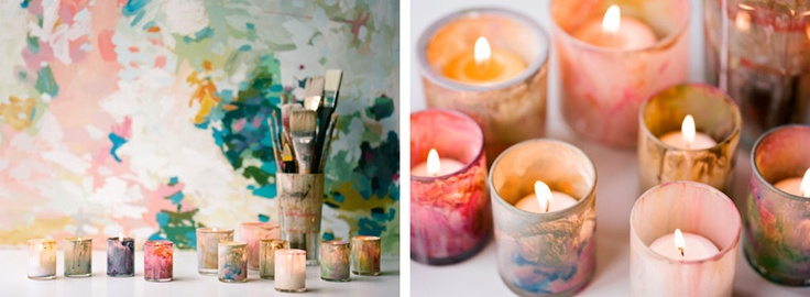 paint your own votives
