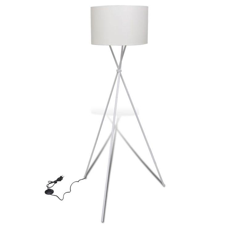 Stehlampe Stehleuchte Lampe Wohnzimmerlampe Standleuchte Lampeschirm Weiss S In Mbel Wohnen Beleuchtung